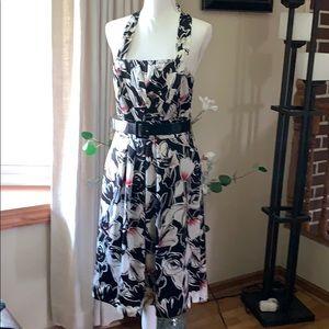 White House Black Market bate back silk dress